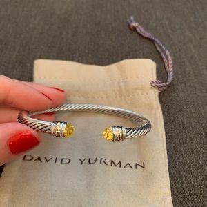 David Yurman Jewelry - David Yurman Cable Bracelet Lemon Citrine Gold 5mm